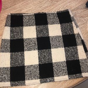 Forever 21 tweed checkered buffalo plaid miniskirt